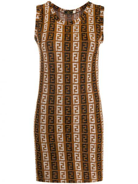 Платье винтажная прямое Fendi Pre-owned