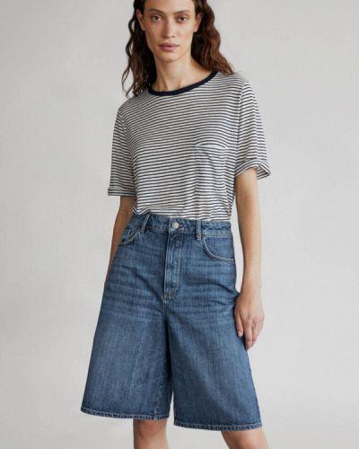 Синие джинсовые джинсовые шорты Massimo Dutti