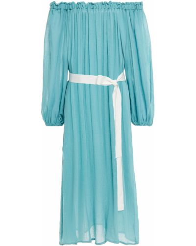 Sukienka plażowa bawełniana turkusowa Eberjey