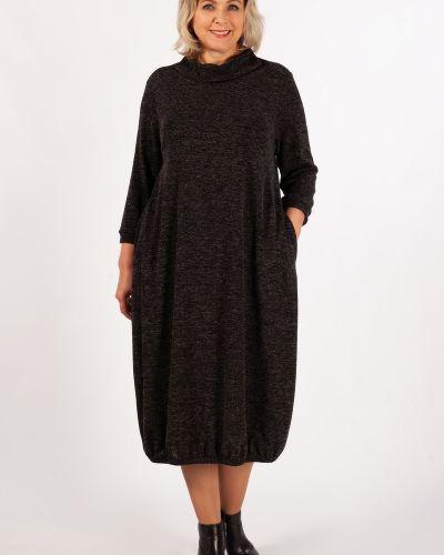 Шерстяное с рукавами платье бохо милада