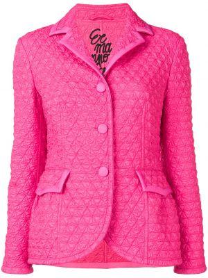 Розовый удлиненный пиджак с карманами на пуговицах Ermanno Scervino