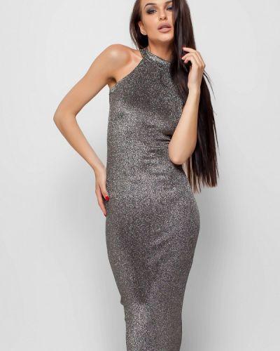 Вечернее платье серебряного цвета Karree