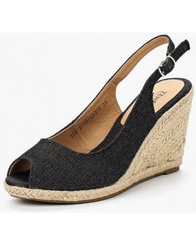 Черные босоножки на каблуке Zenden Woman