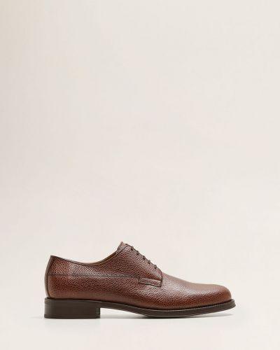 Кожаные туфли на шнуровке Mango Man