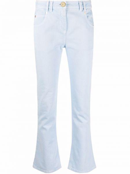 Синие джинсы с заниженной талией Balmain