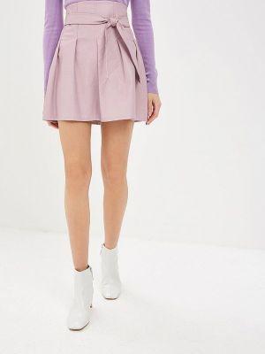 Кожаная юбка итальянский розовая Rinascimento