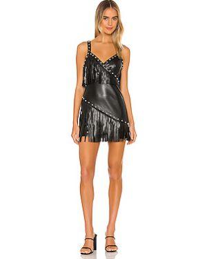 Платье мини с бахромой из вискозы Nbd