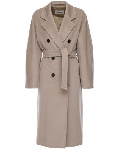 Шерстяное пальто на пуговицах Max Mara