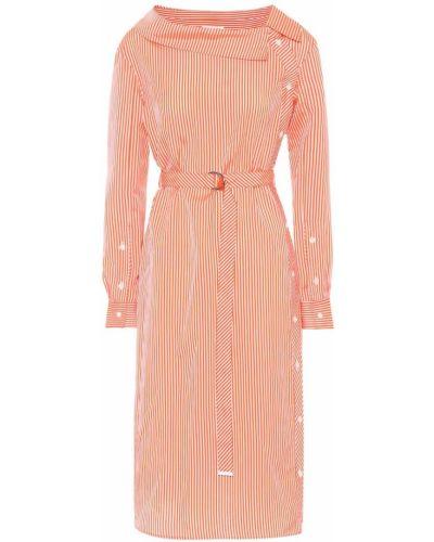 Платье розовое в полоску Altuzarra