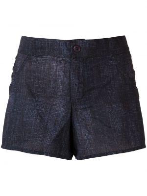 Синие хлопковые с завышенной талией джинсовые шорты Amir Slama