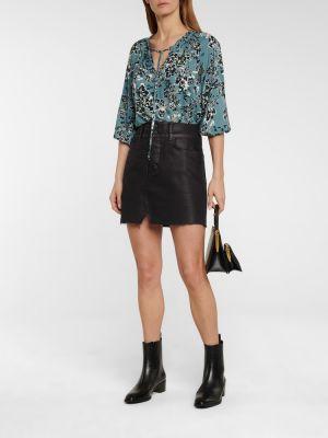 Czarna spódnica jeansowa bawełniana Grlfrnd