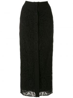 Шелковая юбка миди - черная Martha Medeiros