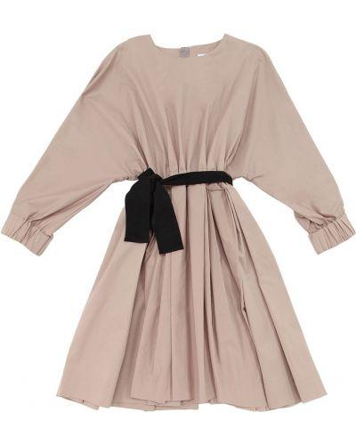 Платье из поплина со складками Unlabel
