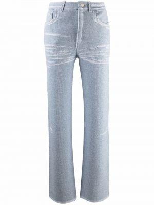 Niebieskie spodnie z paskiem Barrie