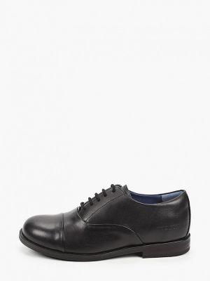 Черные кожаные туфли Birkenstock