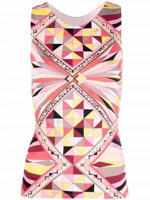 Розовый топ без рукавов Emilio Pucci
