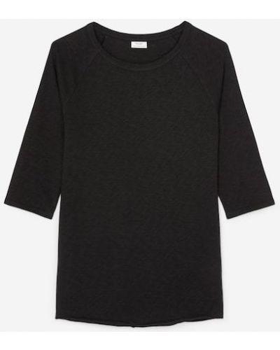 Czarna t-shirt bawełniana Marc O Polo