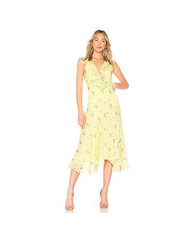 Платье шелковое жаккардовое Saloni