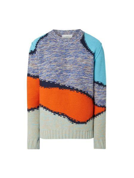 Prążkowany niebieski z kaszmiru sweter Pringle Of Scotland