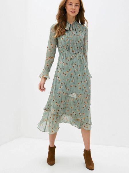 Платье прямое зеленый Cavo