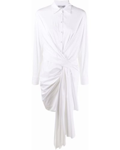 Платье рубашка - белое Oscar De La Renta