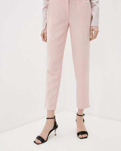 Повседневные розовые брюки Trussardi