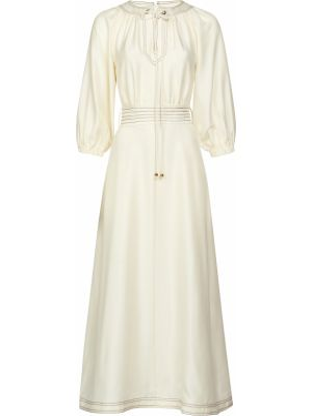 Шелковое платье - белое Zimmermann