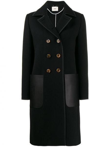 Пальто классическое с воротником с карманами Fendi
