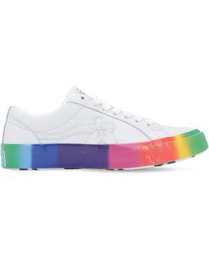 Biały golf skórzany koronkowy Converse X Tyler The Creator