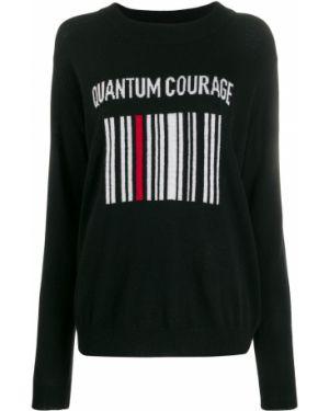 Черный свитер в рубчик Quantum Courage