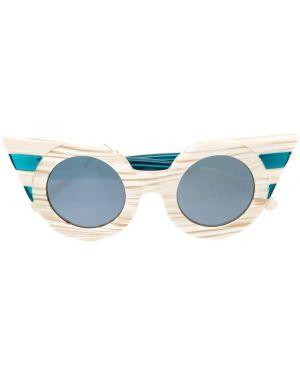 Муслиновые солнцезащитные очки хаки Delalle