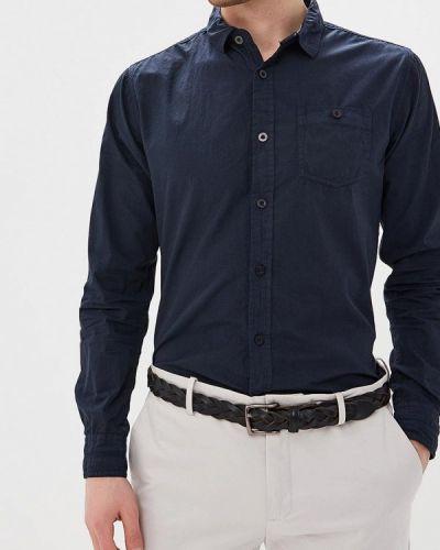 Синяя рубашка с длинным рукавом Mezaguz