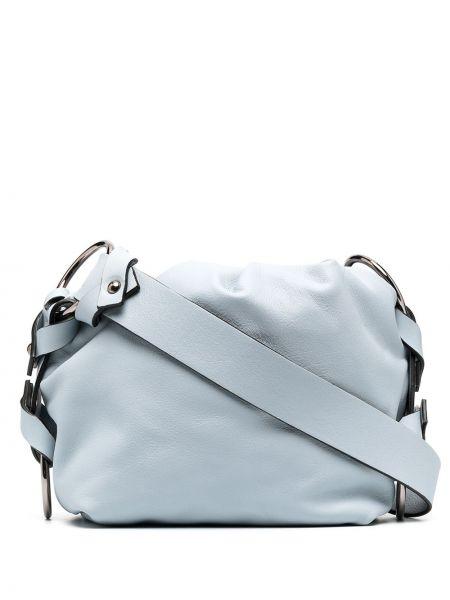 Синяя с ремешком кожаная сумка на плечо Dorothee Schumacher
