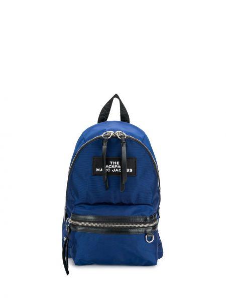 Skórzany plecak z haftem z zamkiem błyskawicznym Marc Jacobs