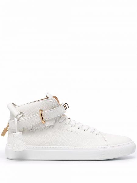 Białe złote buty sportowe Buscemi