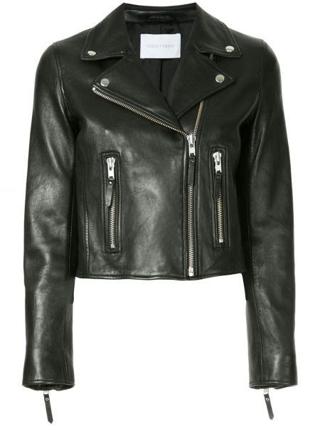 Кожаная куртка черная джинсовая Nobody Denim