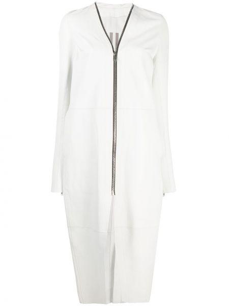 Długi płaszcz - biały Rick Owens