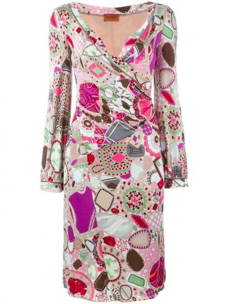 Платье миди винтажное из вискозы на молнии Missoni Pre-owned