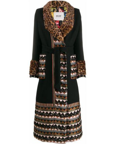 Длинное пальто без воротника шерстяное Bazar Deluxe