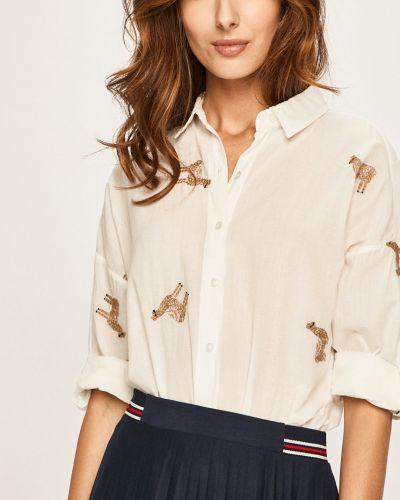 Блузка с длинным рукавом с вышивкой белая Answear