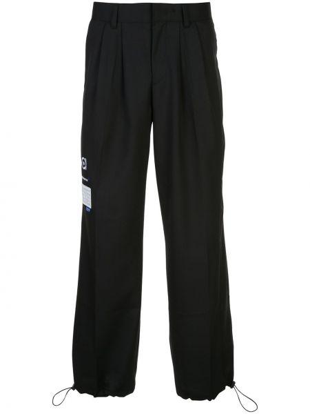 Czarne spodnie wełniane z paskiem Ader Error