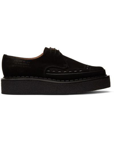 Черные кожаные криперы на шнурках Yang Li