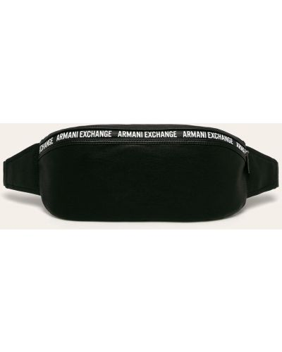 Черная поясная сумка из искусственной кожи Armani Exchange