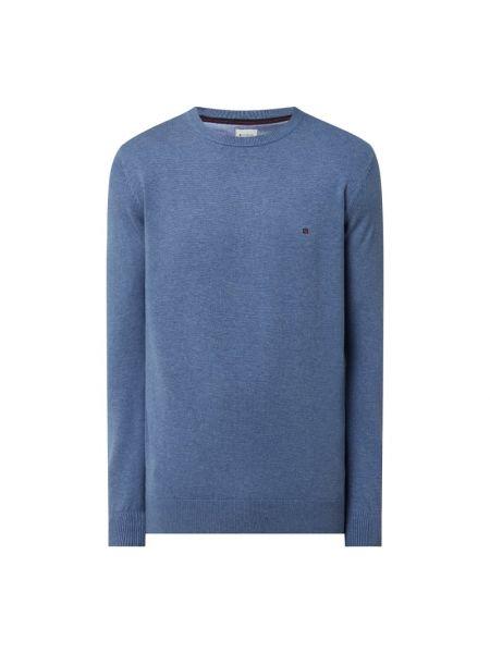 Prążkowany niebieski sweter bawełniany Redgreen