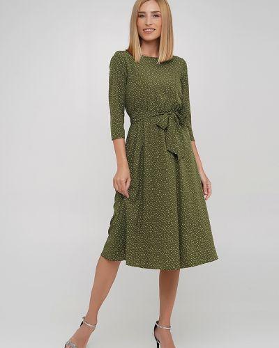 Платье с поясом - зеленое Anastasimo