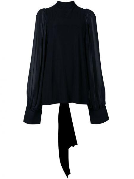 Блузка с воротником - черная Vera Wang