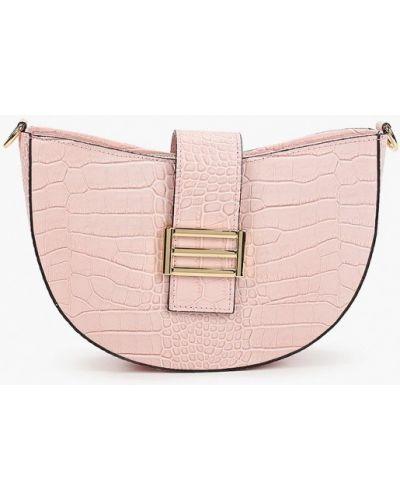Кожаная розовая сумка Lamania