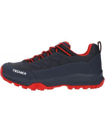 Синие кожаные полуботинки на шнуровке Tecnica