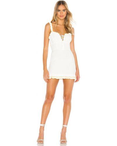 Платье мини в полоску - белое Privacy Please