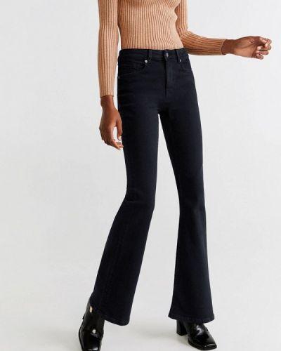 Широкие джинсы расклешенные черные Mango